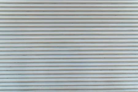 Texture of white Steel roll door horizontal line. Banque d'images - 104196074