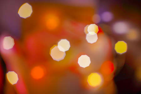 Abstract colorful lights blur and bokeh texture Red, yellow Chrismas Vintage style.