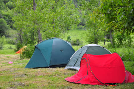 camping tent: tents at a  area