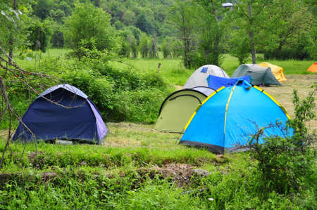 camping in spring Stock Photo - 15787466
