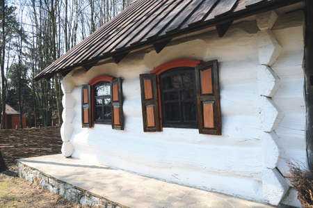 wooden hut (Traditional ukrainian rural house)