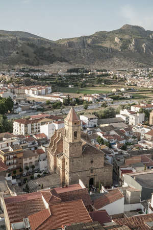 Loja, a town in southern Spain, situated at the western boarder of the province of Granada in Andalusia, Spain. Stock Photo