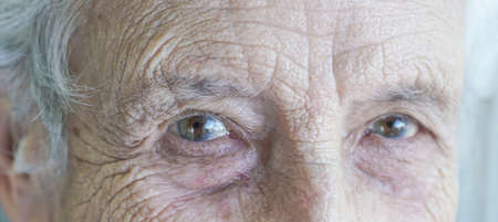 Closeup eyes of an old person