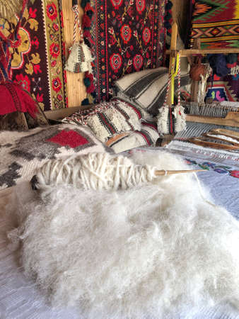 handmade natural rope for carpet loom in Romania