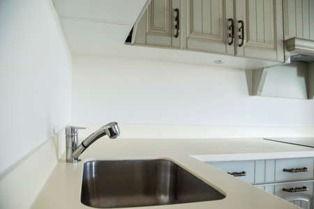 a new cupboards of a kitchen Banco de Imagens