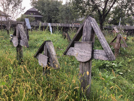 An old cemetery in Romania Stock Photo
