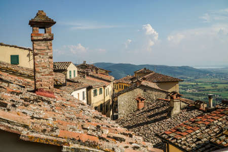 roof of buildings in Tuscany, Italy
