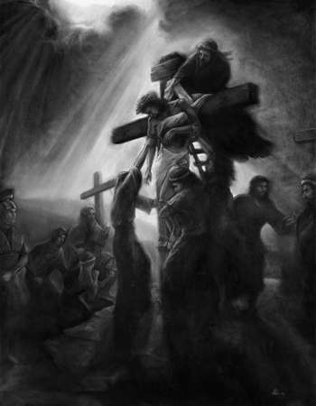 The removal of Christ charcoal