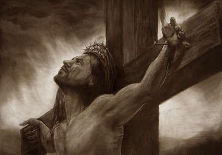 Jezus, de Messias, Heiland van de Wereld Stockfoto