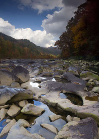 hi resolution: ocoee river near whitewater center, hi resolution combined frames.