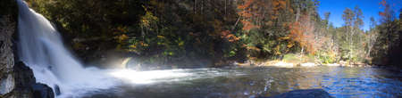 abrams falls at Cades Cove Tennessee composite shot three frames combined panorama Фото со стока