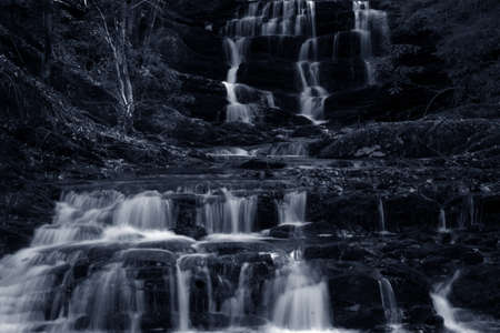 waterfall cascade monotone photo