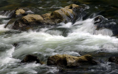 A slow exposure of the Little Pigeon River in Pigeon Forge, Tennessee.