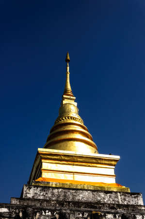 Golden stupa Nan ,Thailand photo
