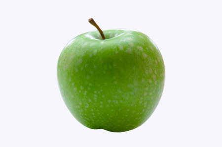 fruit eater: Green apple isolated with background