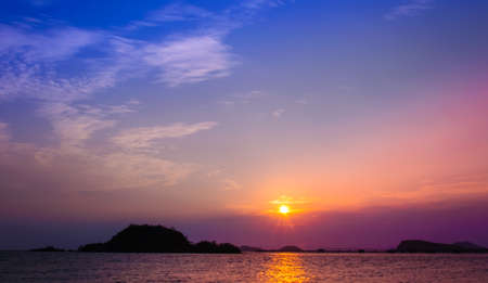 Sunset @ Nang Rum Beach Sattahip ,Thailand  photo