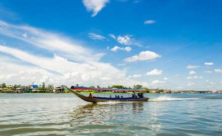 NONTHABURI THAILAND - JUNE 8 : A scenic boat ride around the Kohkret.  on Jun 08,2014 in Nonthaburi Thailand.