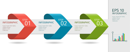 step up: Infographic arrows with step up options. Vector template in flat design style