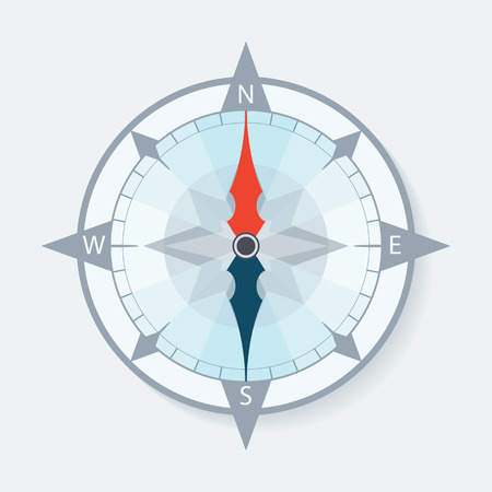 compass rose: Compass wind rose with arrows. Vector illustration