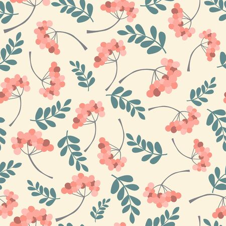 coil spring: Floral seamless pattern on white background. Vector illustration