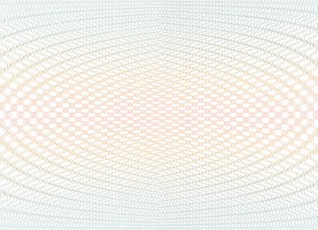 Guilloche background texture - gradient zig zag. For certificate, voucher, banknote, voucher, money design, currency Vector illustration Vettoriali