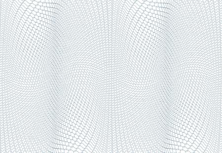 Texture d'arrière-plan guilloché - zig zag vert. Pour le certificat, bon, billet de banque, bon, conception de l'argent, monnaie Vector illustration Vecteurs