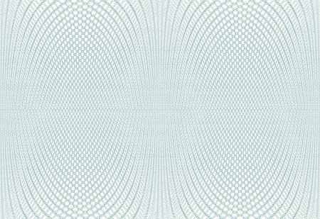 Texture d'arrière-plan guilloché - zig zag vert. Pour le certificat, bon, billet de banque, bon, conception de l'argent, monnaie Vector illustration