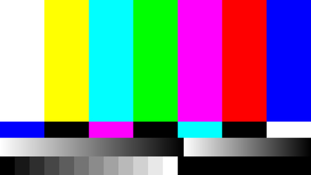 ntsc: No Signal TV retro television test pattern. Color RGB Bars Illustration.