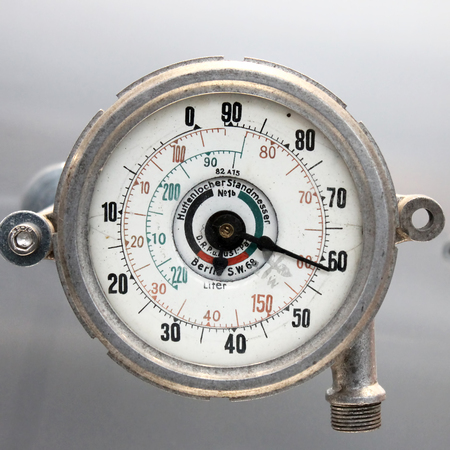 Old Vintage German Airplane gage with based on a white background, isolated.