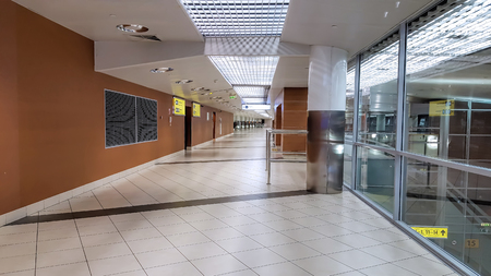 Terminal of the international airport interior, no people Stock Photo
