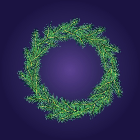 Simple Christmas Wreath Made of Naturalistic.
