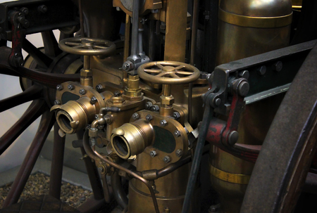 Steam locomotive with coal Stock Photo