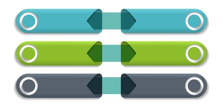 Green infographic arrows with step up options. Template in flat design style