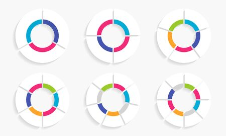 Circle arrows modern infographic set.  template with 3-8 options for diagram, workflow layout, flowchart, steps, parts, timeline, chart, web design background