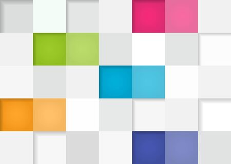 Abstract squares background in flat design, infographic template for presentation.  illustration.