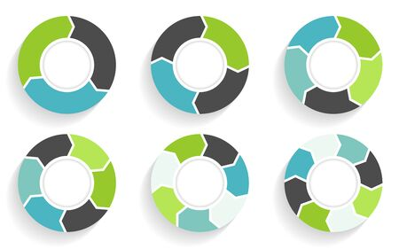 Circle arrows infographic. Business template in flat design style Stock fotó