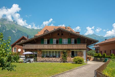 Chalet house in a small swiss commune, non-tourist place