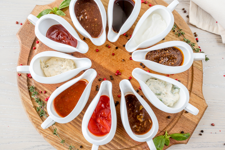 assorted Sauces Stock Photo