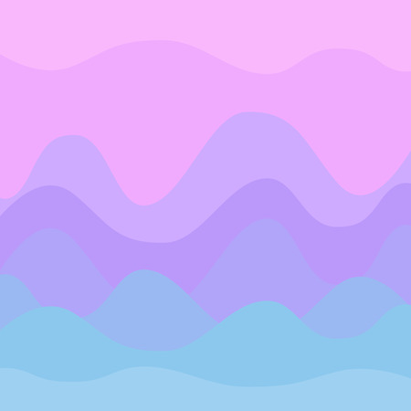 Abstract pastel pink and blue sunset curvy background Ilustracja
