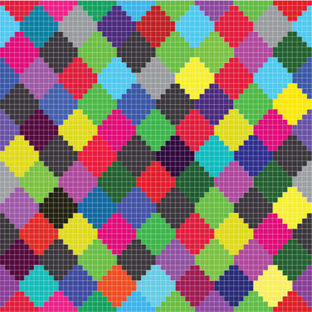 colorful squares pattern vector eps8 graphic Stock Vector - 10898715