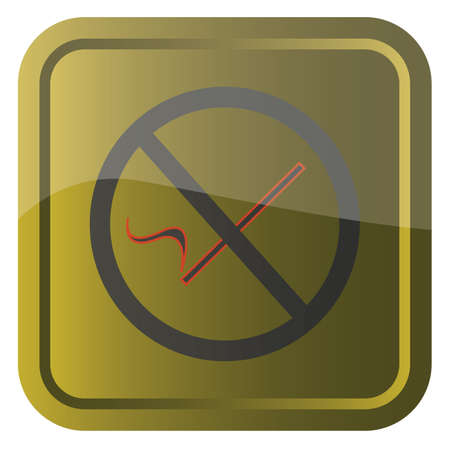 permitted: no smoking sign on golden backround square eps10 vector graphic