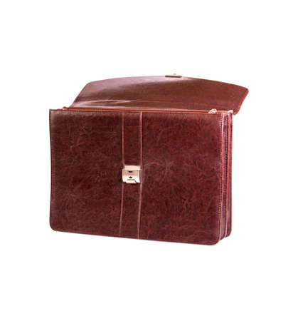 leather bag: Brown leather bag for office Stock Photo