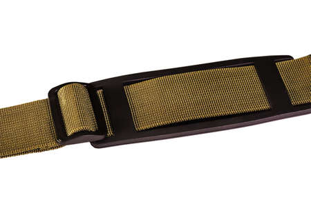 strap: fasteners on the belt strap bag Stock Photo