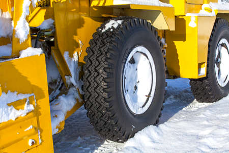 tire machines for snow removal Stock Photo