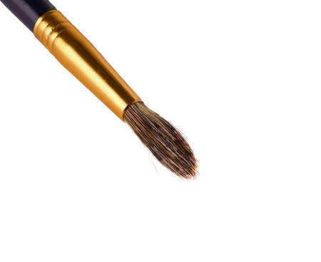 bristles: brush painting close-up on white background Stock Photo