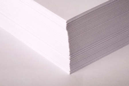 bundle of letters: a bundle of white paper for the Office on a white background