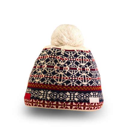 colore: colore sports ski  winter hat on white background