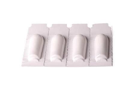 suppositories: suppositories rectal cut on a white background