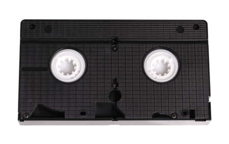 video cassette tape: Blank vhs video cassette tape isolated on white background Stock Photo