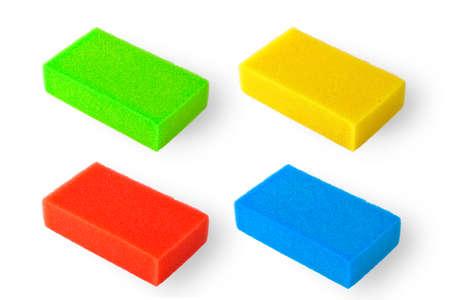 squire: Orange squire bath sponge isolated on white